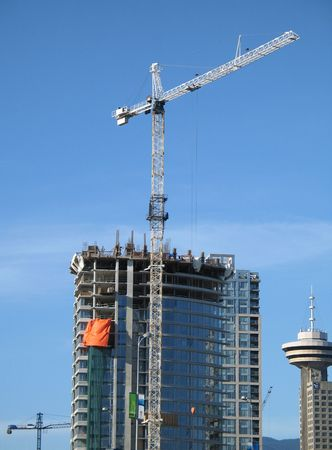 site: large construction site Stock Photo
