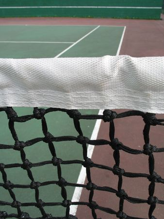 tennis net close up