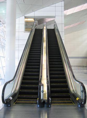 black escalator Stock Photo