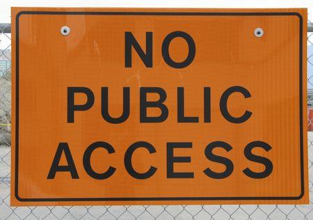 no public access sign