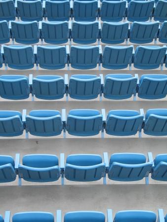 blue stadium benches