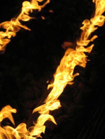 indoor oranje vuur vlammen Stockfoto