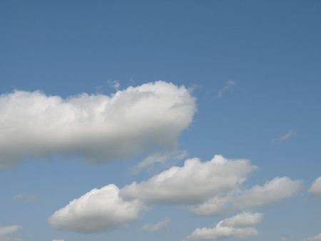 cirrus: blue sky and white clouds
