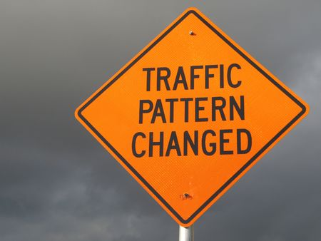 changed: traffic pattern changed sign