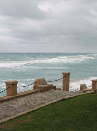 stormy ocean photo