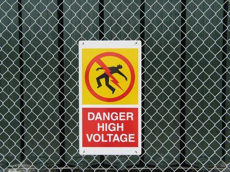 high voltage sign 版權商用圖片