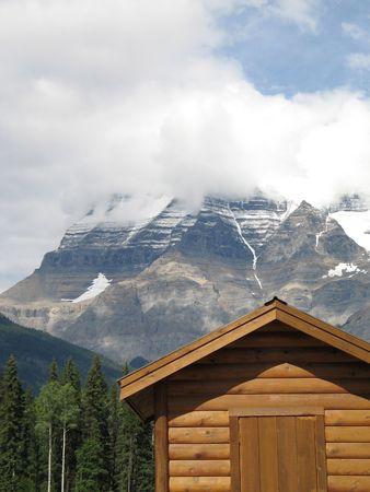 rocky mountain top view Standard-Bild