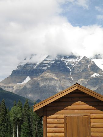 rocky mountain top view Stock Photo