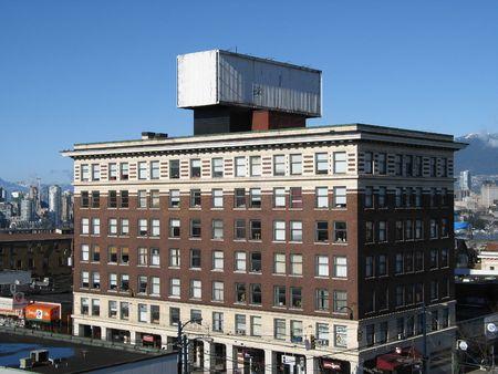 empty billboard on a building Imagens - 3936983