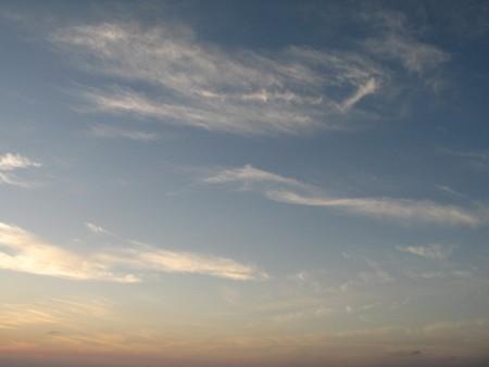 admiring: cloudy sky Stock Photo