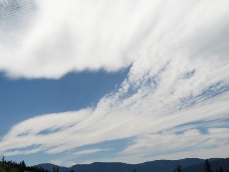 cirrus: cloudy sky Stock Photo