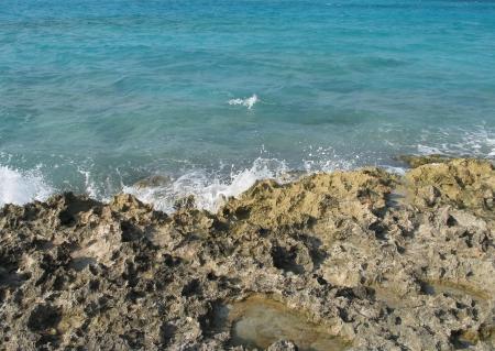 wave crashing on a cliff Stock Photo - 4028713