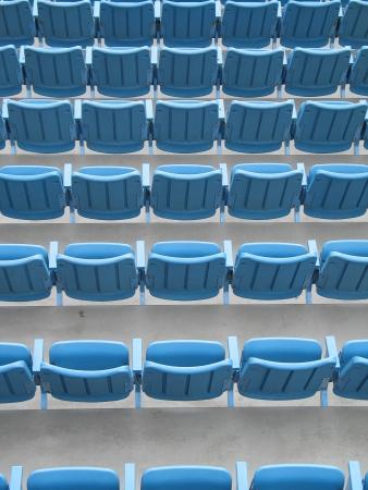 Blue outdoor seats