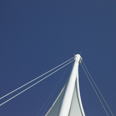 White sails and blue sky 스톡 콘텐츠