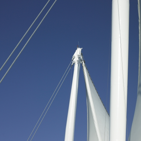 Sails and blue sky photo