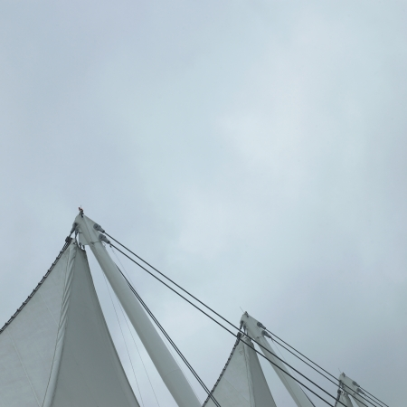 Sails and grey sky Stock Photo - 18007496