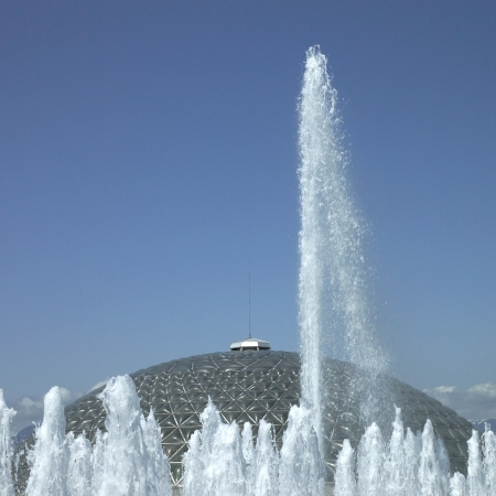ejaculation: Fountains and dome Stock Photo