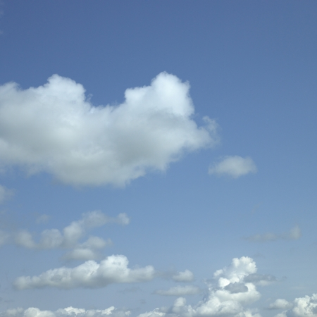 body dimensions: Clouds in the blue sky