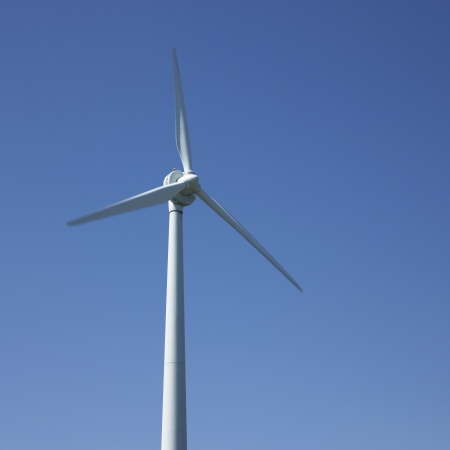 ecological problem: windmill and blue sky