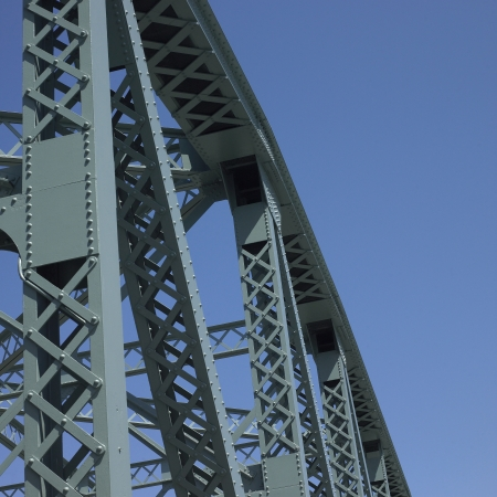 hardwearing: Bridge structure and blue sky