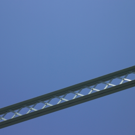 durable: Bridge structure and blue sky