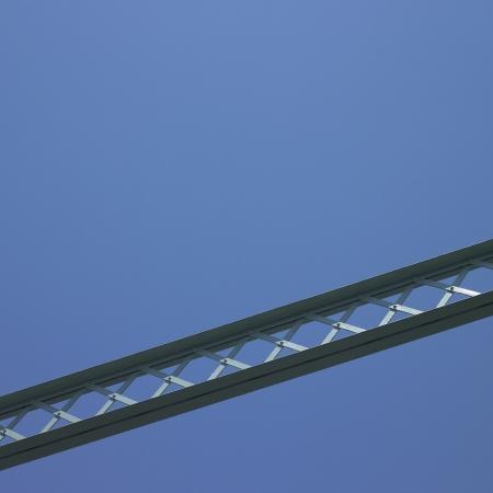 structure: Bridge structure and blue sky