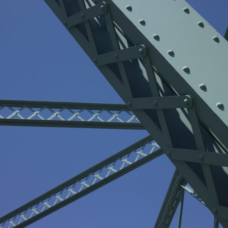 Bridge structure and blue sky Stock Photo - 18116542
