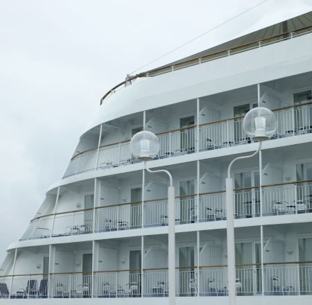 Larger cruise ship with balconies photo