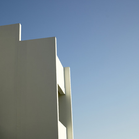 durable: Jagged white wall and blue sky