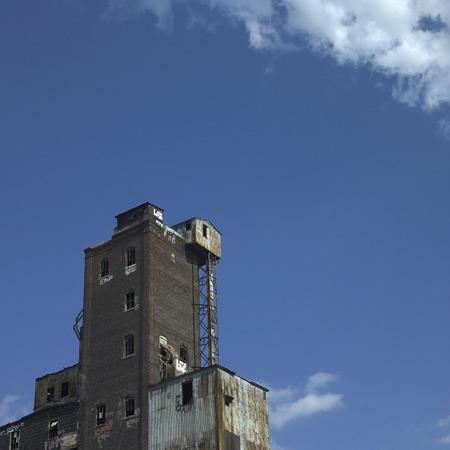 Large abandonned factory made of bricks and metal Reklamní fotografie