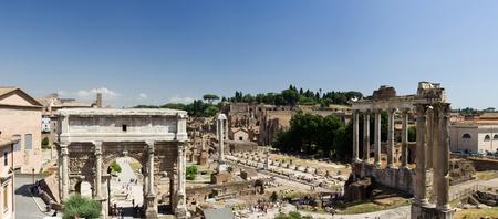 obelisc: Panoramic view of Forum Romanum, Rome, Italy Stock Photo