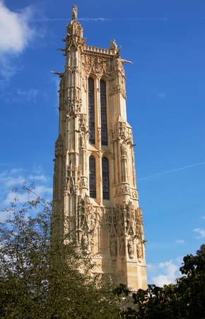 jacques: Tower of Saint Jacques in Paris, France Stock Photo