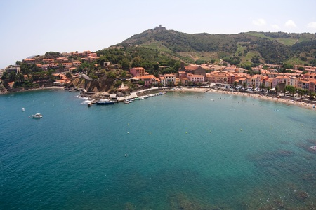 View from the castle of Collioure, France, Europe photo