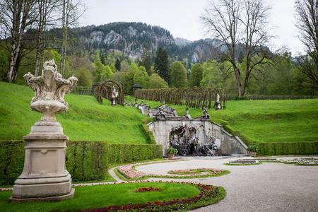 Famous Linderhof Garden, Bavaria, Germany