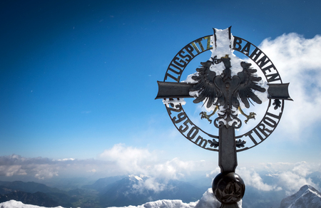Austrian border and top of Germany, Zugspitze