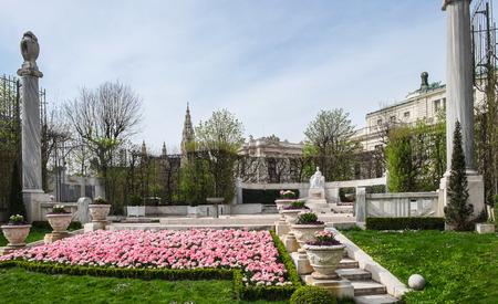 empress: Monument to Empress Elisabeth of Austria unveiled 1907 in the park Volksgarten, Vienna, Austria Editorial