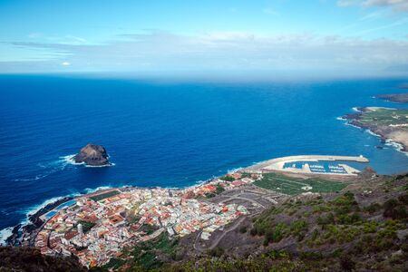 Panoramic view of Garachico town, Tenerife, Canary Islands
