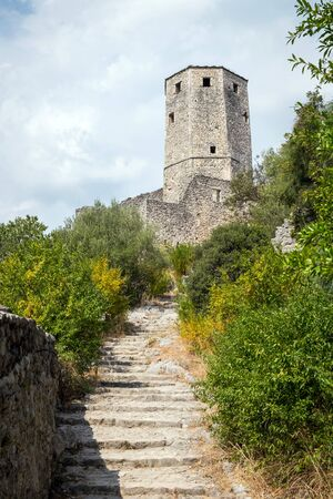 Stairs to Citadel Pocitelj, Bosnia and Herzegovina