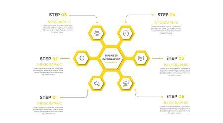 Presentation business infographic template . Vector illustration.