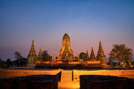 Wat Chaiwatthanaram temple in Ayuthaya Historical Park, in Thailand