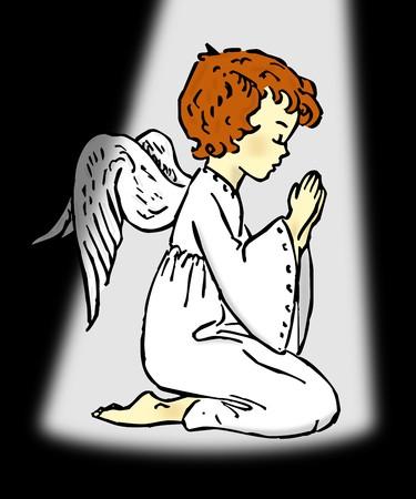 child praying: Praying Angel
