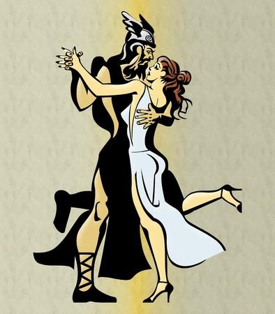 Greek Couple Dancing photo