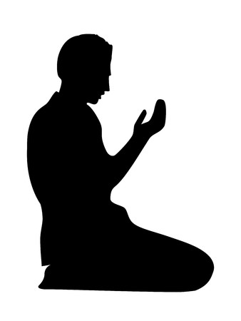Silhouette of Muslim Prayer