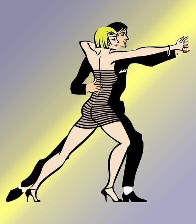 hot couple: Couple Dancing Tango 2