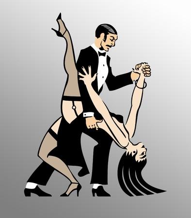 tango dance: Couple Dancing Tango 1