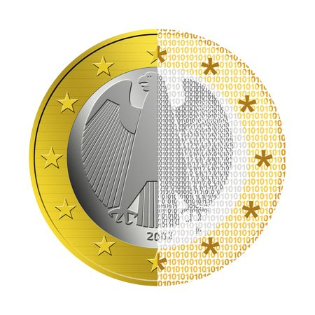 epayment: German Euro E-Payment Stock Photo