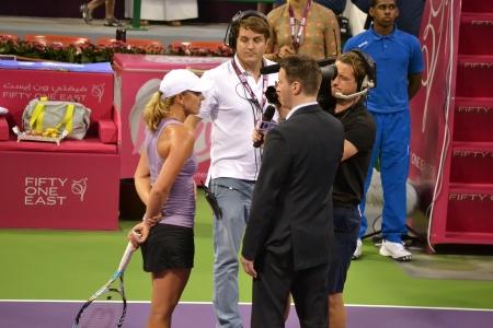 17th: DOHA-QATAR: FEBRUARY 11: Australian; Tennis Player Anastasia Rodionova at Qatar Total Open on February 11, 2013 in Doha, Qatar. The event was held from February 11th till February 17th 2013.