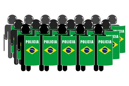 Silhouette of Brazilian Anti-Riot Police