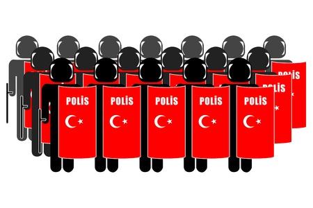 neutralizować: Sylwetka tureckiej policji do tłumienia zamieszek