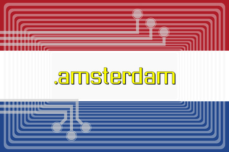 Illustration of internet address dot amsterdam domain name illustration